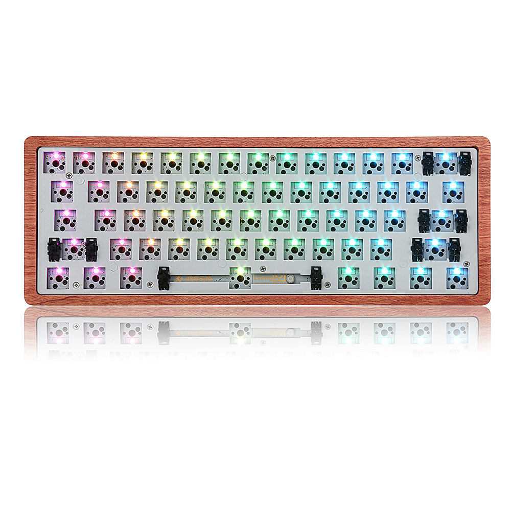 ZicHEXING-US GK61 Swappable 60/% RGB Keyboard Customized Kit PCB Mounting Plate Case
