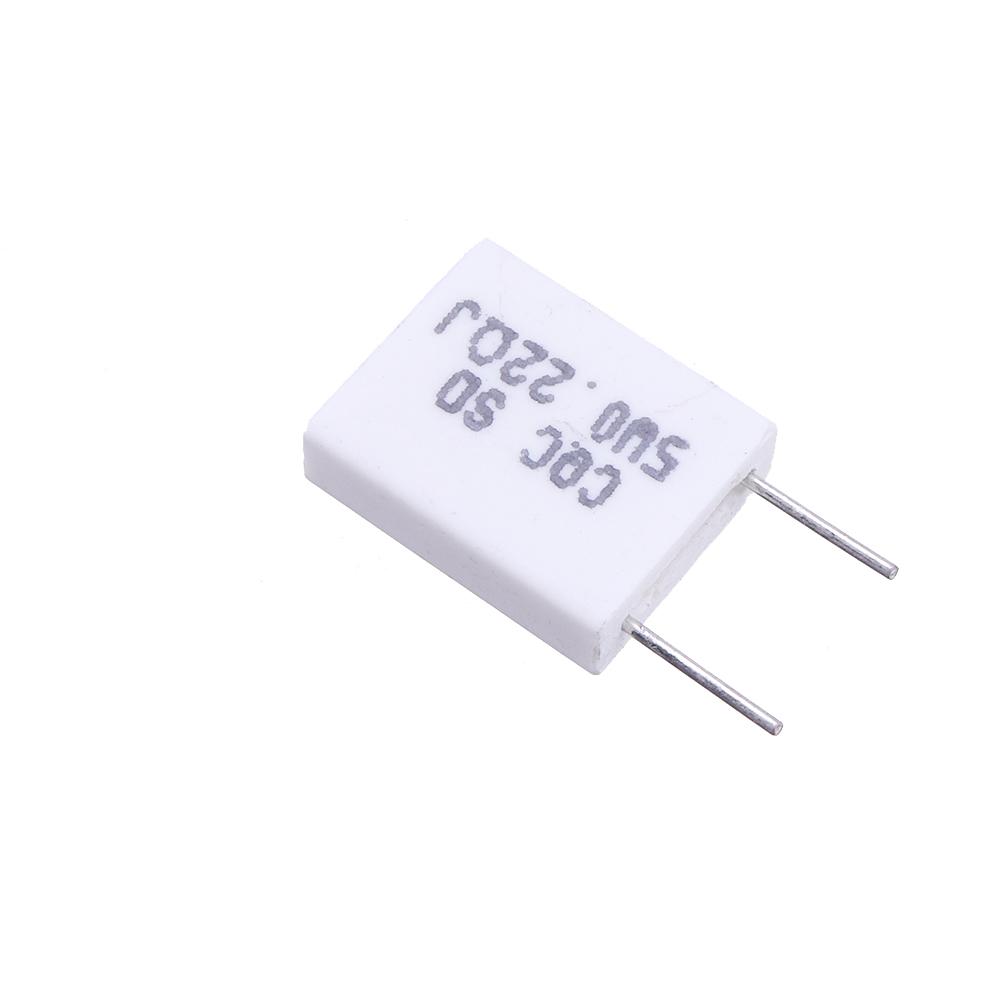 10 x 5W 0.22 ohm Non-inductive Ceramic Cement Resistor Wirewound Resistance
