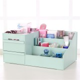 Plastic Desktop Organizer Makeup Organizer Cosmetic Storage Box Stationery Holder Home Decorations