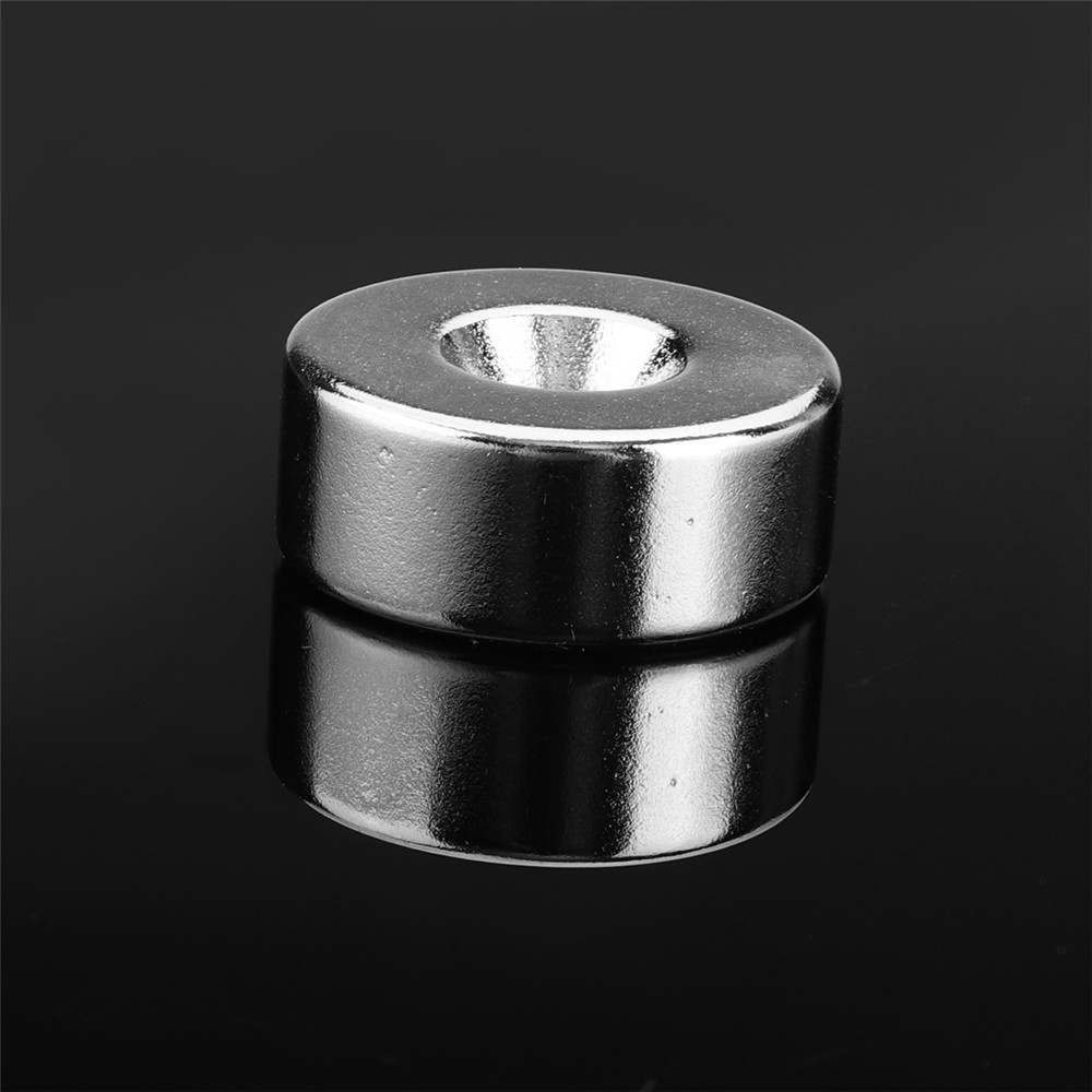 Effetool 2pcs 25mmx10mm 5mm Hole Round Magnet Ring Rare Earth Neodymium Magnet