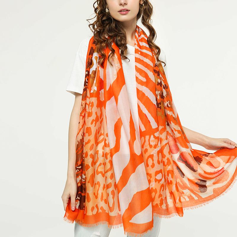 Women Print Bohemia Travel Beach Sunscreen Ethnic Vintage Vogue Cotton Soft Scarf Shawl