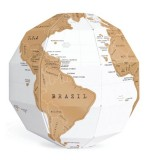 3D DIY Scratch Globe Stereo Assembly Scratch Globe Tellurion Set World Map Travel Geography Teaching Apparatus