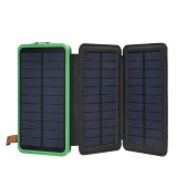 20000mAh Solar Panel Solar Charger 5W 5V/2A Foldable Solar Panel Charger Dual USB Mobile Portable Power Bank