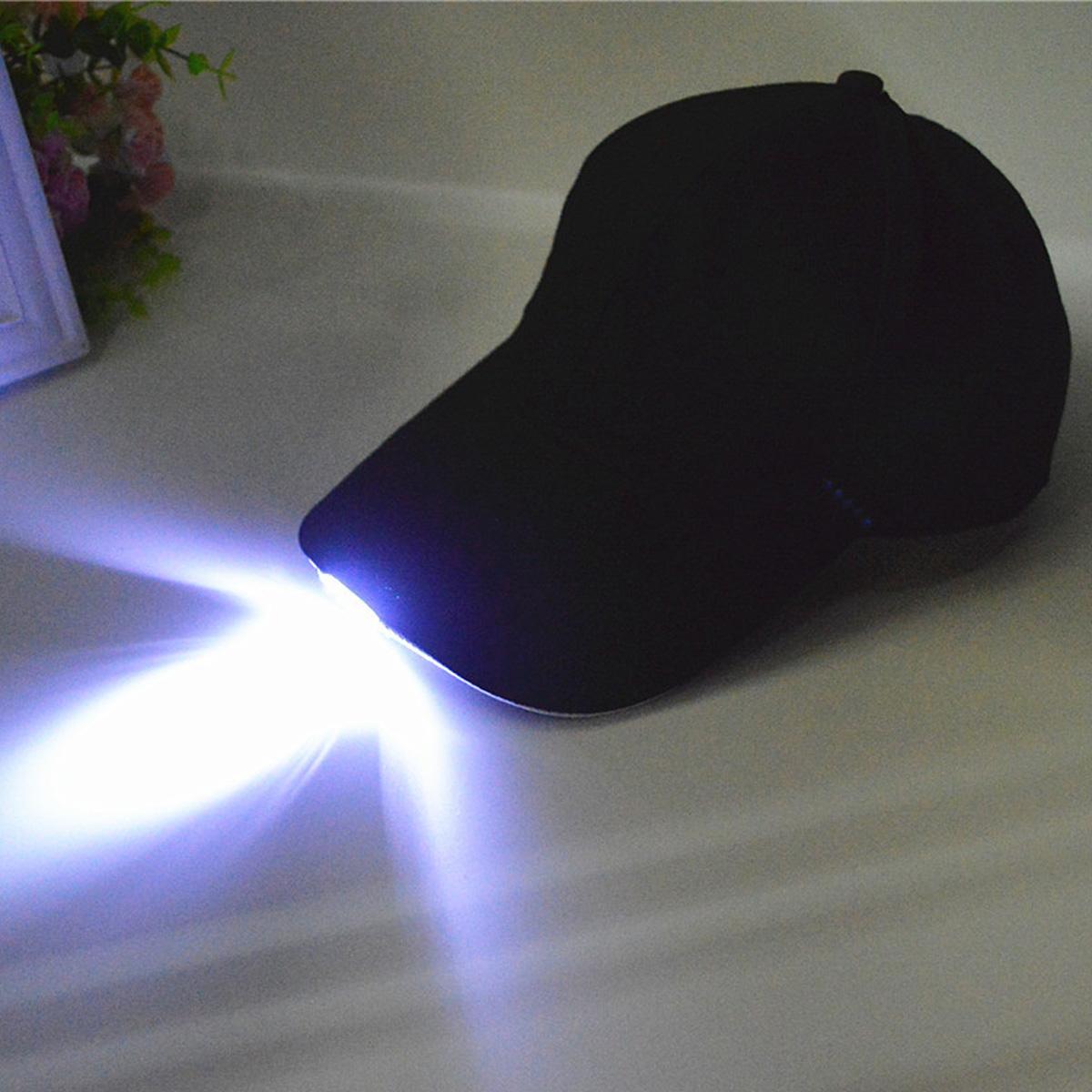 Unisex Hat Adjustable Night Baseball Running Sports Fishing Cap With 5 Bright LED Light