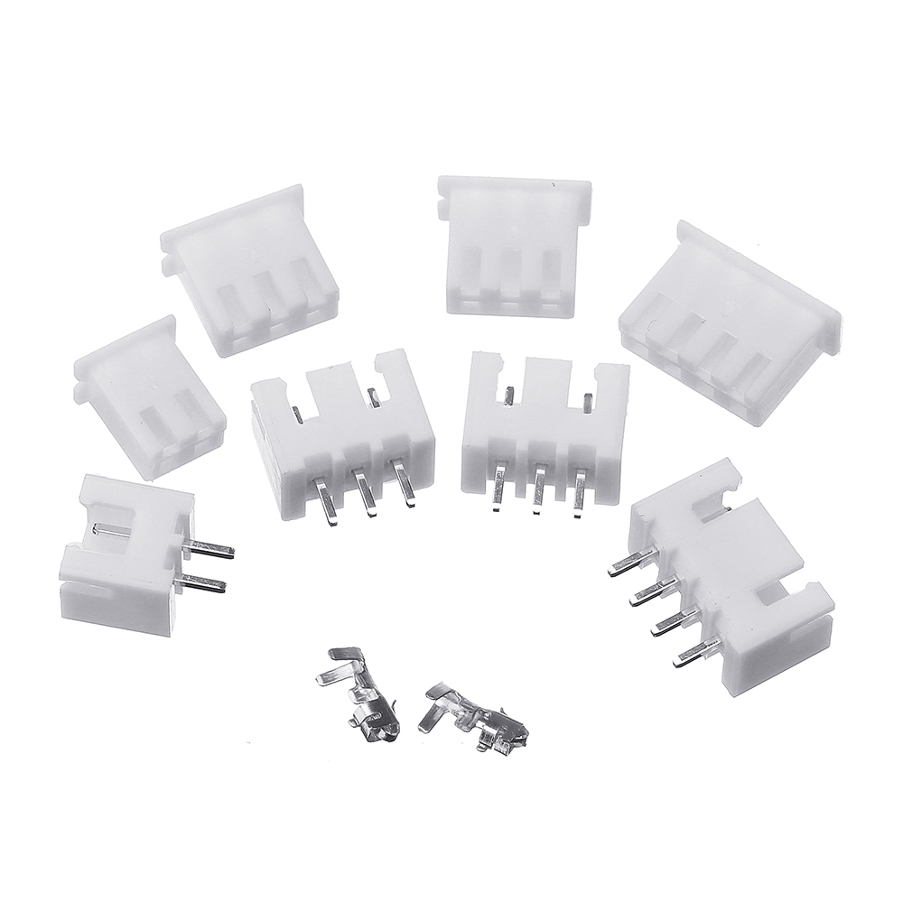2500Pcs 2.54mm XH2.54 2p 3p 4 Pin Connector Plug+Straight Needle+Terminal Socket Header Wire Adaptor