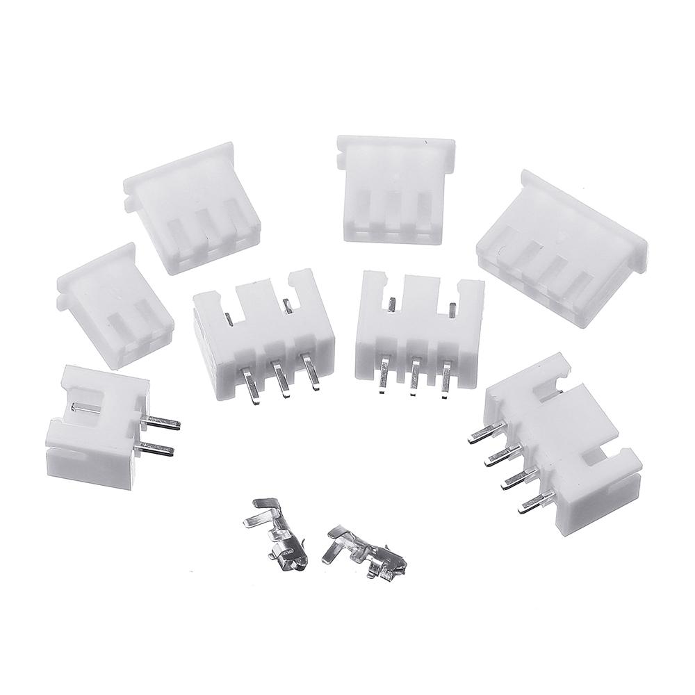 2500Pcs 2.54mm XH2.54 2p 3p 4 Pin Connector Plug+Straight Needle+Terminal Socket Header Wire Adaptor
