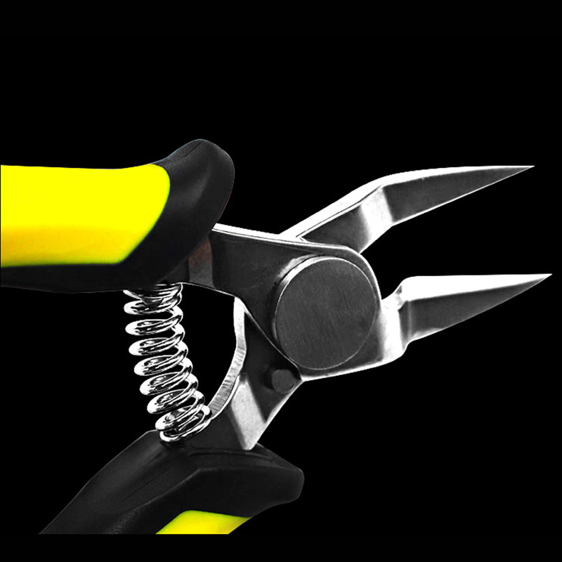 TS-140 5inch Mini Electrical Wire Cable Plier Cutter Cutting Side Snips Flush Nipper Wire Stripper Hand Tools Micro Shears