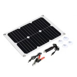 15W Monocrystalline Solar Panel Dual USB Output Solar Powered Panel With Charger Battery clip