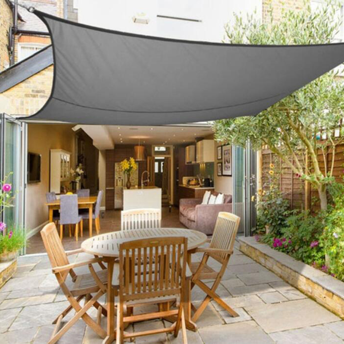 300D 160GSM Outdoor Heavy Duty Sun Shade Sail Waterproof UV Proof Tent Canopy Sunshade Shelter