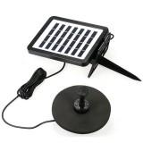 7V 1.5W Solar Panel Powered Pump Birdbath Fountain Water Pump For Garden Night Pond Pool