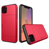 Shockproof Rugged Armor Protective Case with Card Slot for iPhone 11 Pro Max (Red)