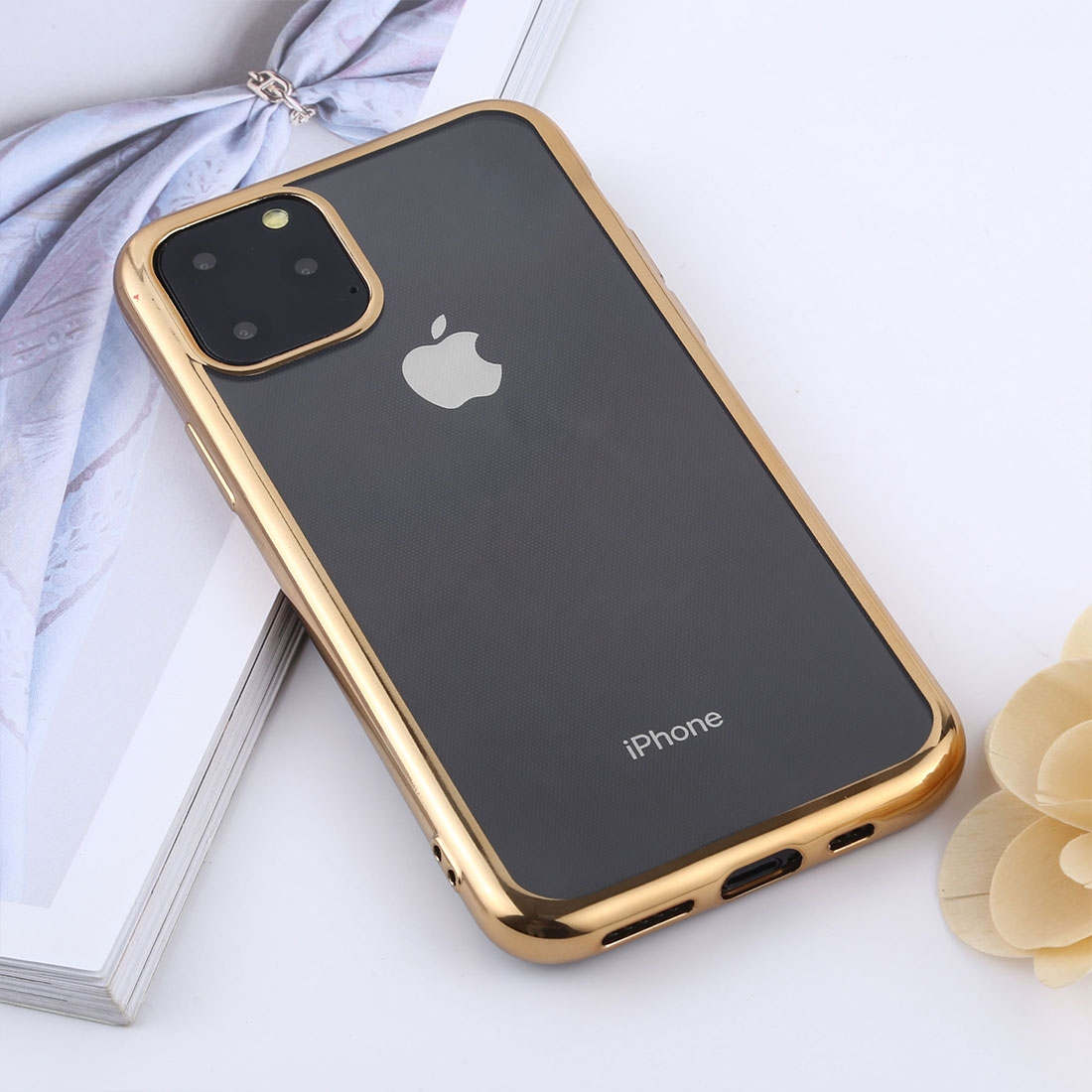 Transparent TPU Anti-Drop And Waterproof Mobile Phone Protective Case for iPhone 11 Pro Max
