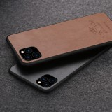PINWUYO Pin Rui Series Classical Leather, PC + TPU + PU Leather Waterproof And Anti-fall All-inclusive Protective Shell for iPhone 11 Pro Max (Brown)