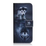 Painting Pattern Coloured Drawing Horizontal Flip Leather Case with Holder & Card Slots & Wallet for Huawei P20 Lite 2019 / Nova 5i (Wolf And Dog)