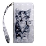 3D Painting Pattern Coloured Drawing Horizontal Flip TPU + PU Leather Case with Holder & Card Slots & Wallet For Huawei Honor 20i (Smile Cat)