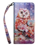 3D Painting Pattern Coloured Drawing Horizontal Flip TPU + PU Leather Case with Holder & Card Slots & Wallet For Huawei P30 Lite / Nova 4e (Color Owl)