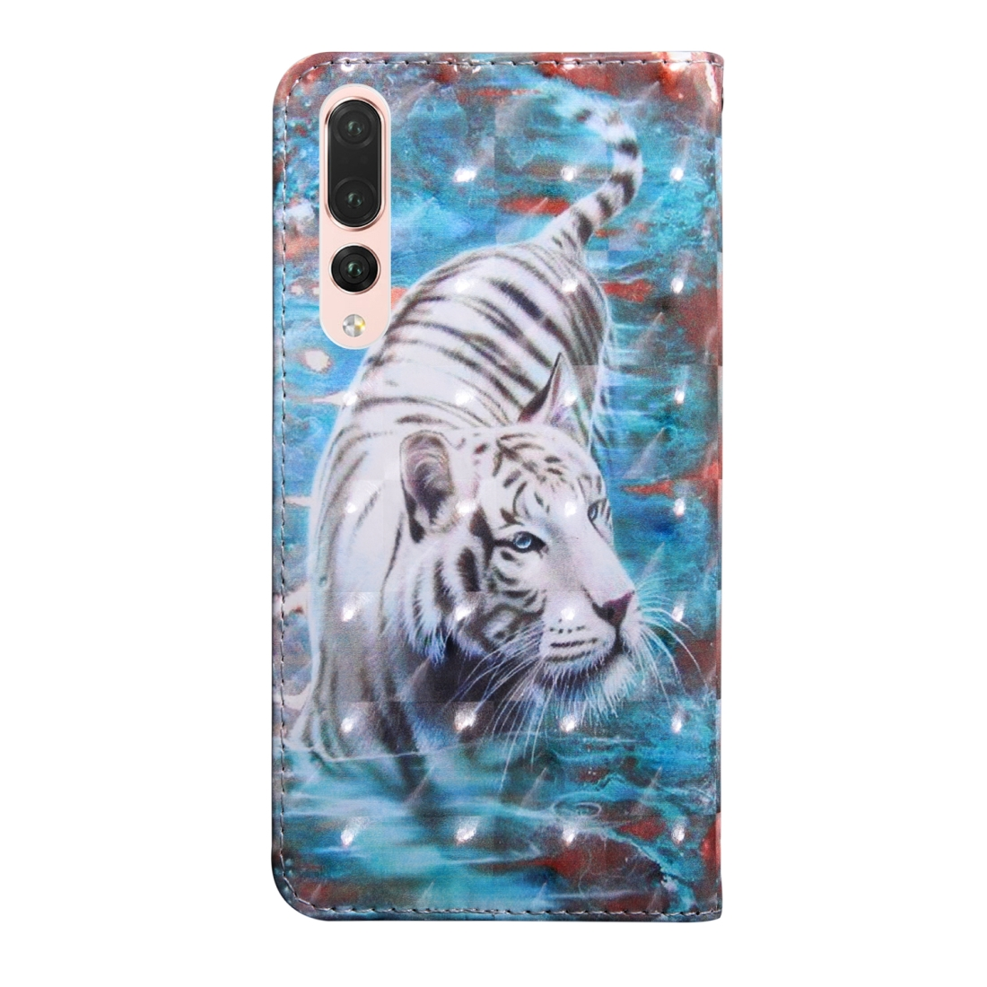 3D Painting Pattern Coloured Drawing Horizontal Flip TPU + PU Leather Case with Holder & Card Slots & Wallet for Huawei P20 Lite (Tiger)