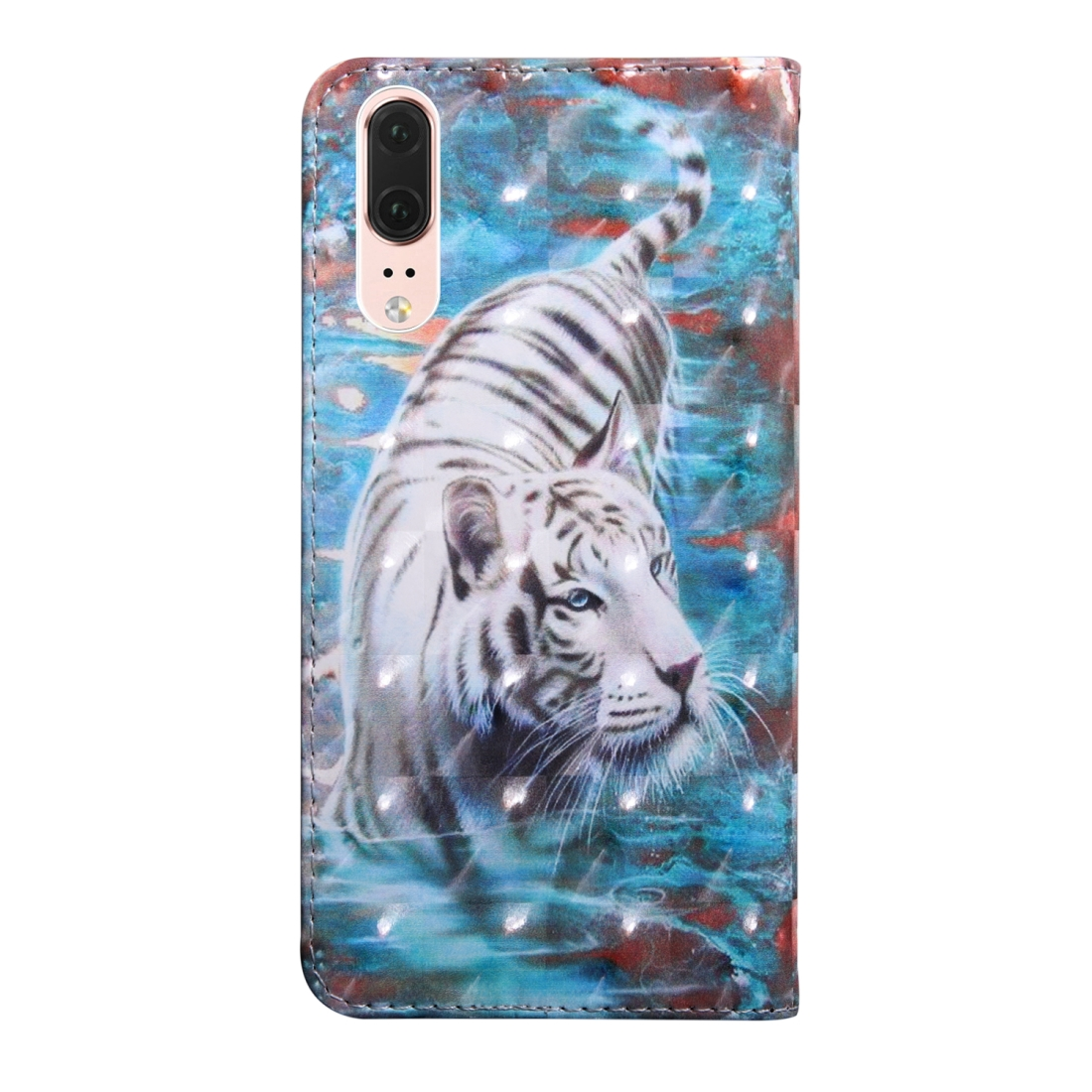 3D Painting Pattern Coloured Drawing Horizontal Flip TPU + PU Leather Case with Holder & Card Slots & Wallet for Huawei P20 Pro (Tiger)