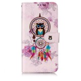 Oil Embossed Coloured Drawing Pattern Horizontal Flip PU Leather Case with Holder & Card Slots & Wallet & Photo Frame For Galaxy A60 / M40 (Owl Wind Chimes)