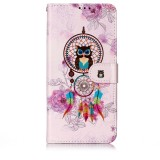 Oil Embossed Coloured Drawing Pattern Horizontal Flip PU Leather Case with Holder & Card Slots & Wallet & Photo Frame For Galaxy A70 (Owl Wind Chimes)