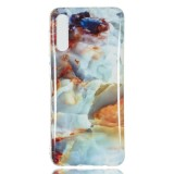 Coloured Drawing Pattern IMD Workmanship Soft TPU Protective Case For Galaxy A50 (Fire Cloud Marble)