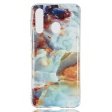Coloured Drawing Pattern IMD Workmanship Soft TPU Protective Case For Galaxy A60 (Fire Cloud Marble)