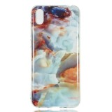 Coloured Drawing Pattern IMD Workmanship Soft TPU Protective Case For Huawei Y5 2019 (Fire Cloud Marble)
