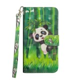 3D Painting Pattern Horizontal Flip TPU + PU Leather Case with Holder & Card Slots & Wallet For Huawei P30 (Bamboo Panda)