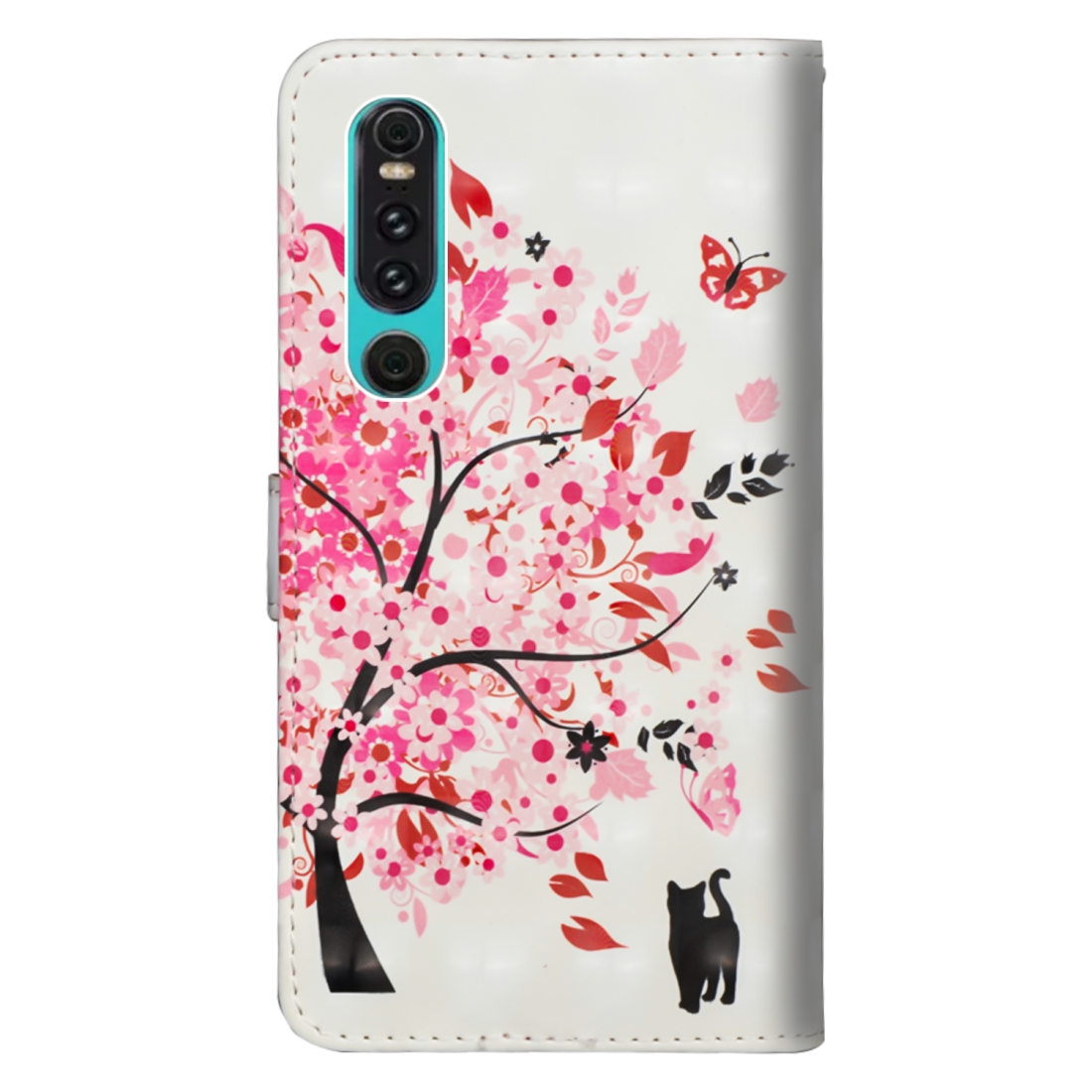 3D Painting Pattern Horizontal Flip TPU + PU Leather Case with Holder & Card Slots & Wallet For Huawei P30 (Tree Cat)