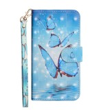 3D Painting Pattern Horizontal Flip TPU + PU Leather Case with Holder & Card Slots & Wallet For Huawei P30 (Three Butterfly)