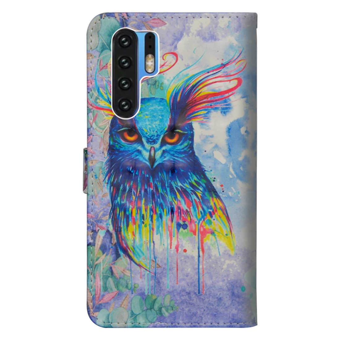 3D Painting Pattern Horizontal Flip TPU + PU Leather Case with Holder & Card Slots & Wallet For Huawei P30 Pro (Watercolor Owl)