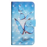 3D Painting Pattern Horizontal Flip TPU + PU Leather Case with Holder & Card Slots & Wallet For Huawei Mate 20 Lite (Three Butterfly)