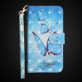 3D Painting Pattern Horizontal Flip TPU + PU Leather Case with Holder & Card Slots & Wallet For Huawei Honor 20i (Three Butterfly)