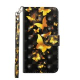 3D Painting Pattern Horizontal Flip TPU + PU Leather Case with Holder & Card Slots & Wallet For Huawei P20 Lite (2019) / Nova 5i (Golden Butterfly)