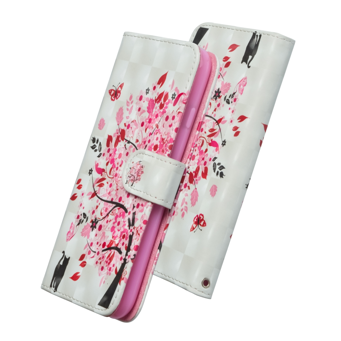 3D Painting Pattern Horizontal Flip TPU + PU Leather Case with Holder & Card Slots & Wallet For Huawei P20 Lite (2019) / Nova 5i (Tree Cat)