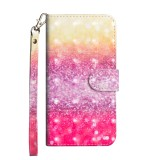3D Painting Pattern Horizontal Flip TPU + PU Leather Case with Holder & Card Slots & Wallet For Huawei P20 Lite (2019) / Nova 5i (Gradient Color)