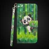 3D Painting Pattern Horizontal Flip TPU + PU Leather Case with Holder & Card Slots & Wallet For Huawei P30 Lite / Nova 4e (Bamboo Panda)