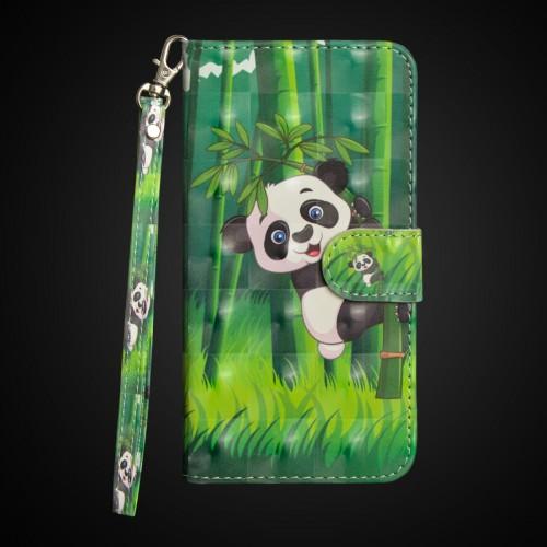 3D Painting Pattern Horizontal Flip TPU + PU Leather Case with Holder & Card Slots & Wallet For Huawei P30 Lite / Nova 4e (Bamboo Panda)