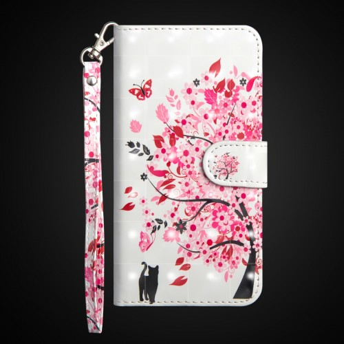 3D Painting Pattern Horizontal Flip TPU + PU Leather Case with Holder & Card Slots & Wallet For Huawei P30 Lite / Nova 4e (Tree Cat)