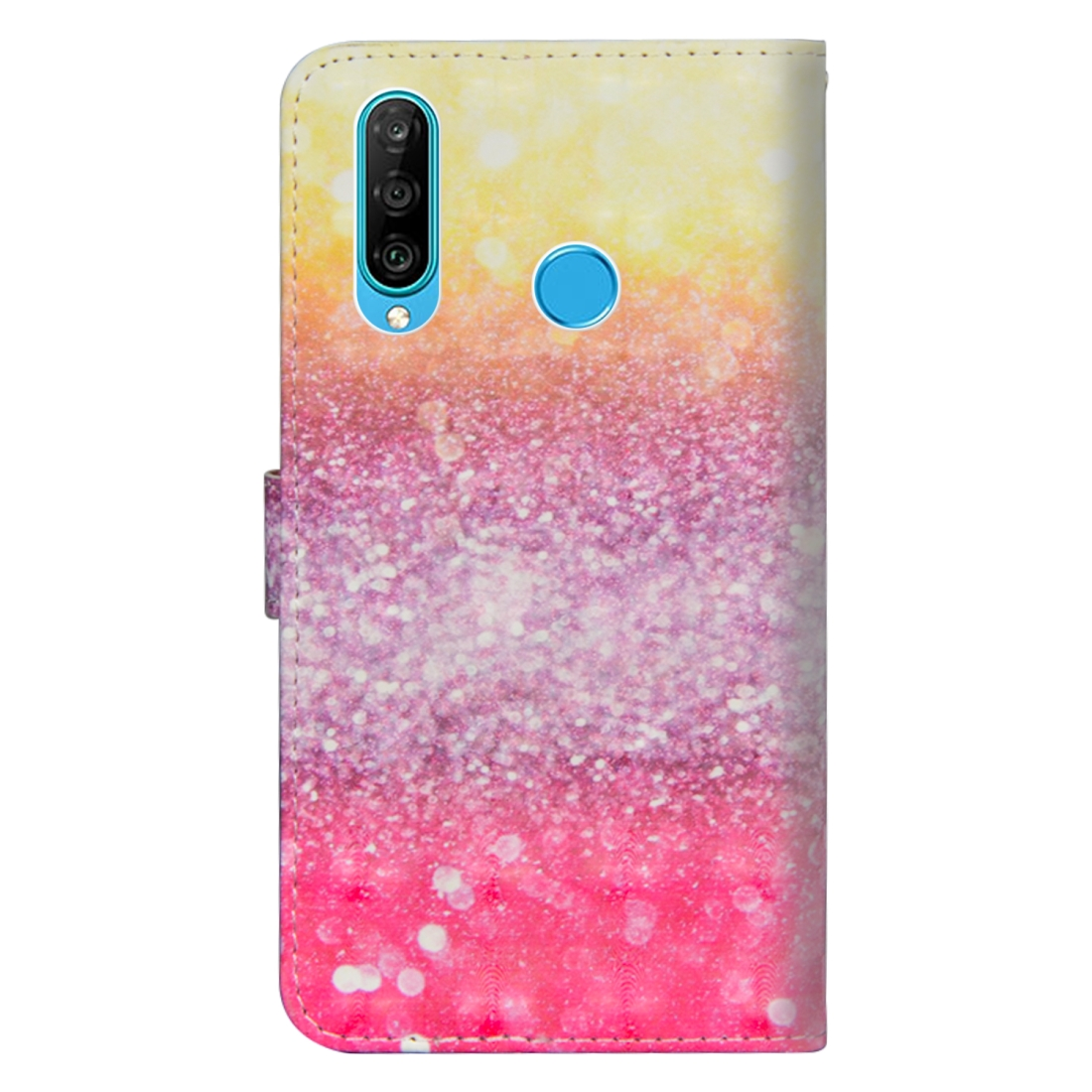 3D Painting Pattern Horizontal Flip TPU + PU Leather Case with Holder & Card Slots & Wallet For Huawei P30 Lite / Nova 4e (Gradient Color)