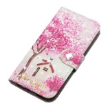 3D Diamond Encrusted Painting Pattern Coloured Drawing Horizontal Flip PU Leather Case with Holder & Card Slots & Wallet For Huawei P20 Lite (2019) / Nova 5i (Tree House)