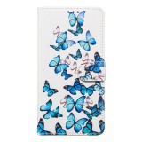 Colored Drawing Marble Pattern Horizontal Flip PU Leather Case with Holder & Card Slots & Wallet For Galaxy A40 (Little Butterflies)