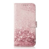 Colored Drawing Marble Pattern Horizontal Flip PU Leather Case with Holder & Card Slots & Wallet For Galaxy S10 5G (Rose Gold)
