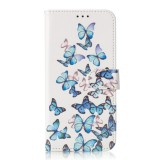 Colored Drawing Marble Pattern Horizontal Flip PU Leather Case with Holder & Card Slots & Wallet For Galaxy S10e (Little Butterflies)