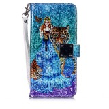 Magic 3D Bright Coloured Drawing Pattern Horizontal Flip PU Leather Case with Holder & Card Slots & Wallet & Photo Frame for Huawei P30 Pro (Beauty and Tiger)
