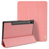 DUX DUCIS Domo Series Horizontal Flip Magnetic PU Leather Case with Three-folding Holder & Sleep / Wake-up Function for Galaxy Tab S6 / T860 (Pink)