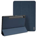 DUX DUCIS Domo Series Horizontal Flip Magnetic PU Leather Case with Three-folding Holder & Sleep / Wake-up Function for Galaxy Tab S6 / T860 (Blue)