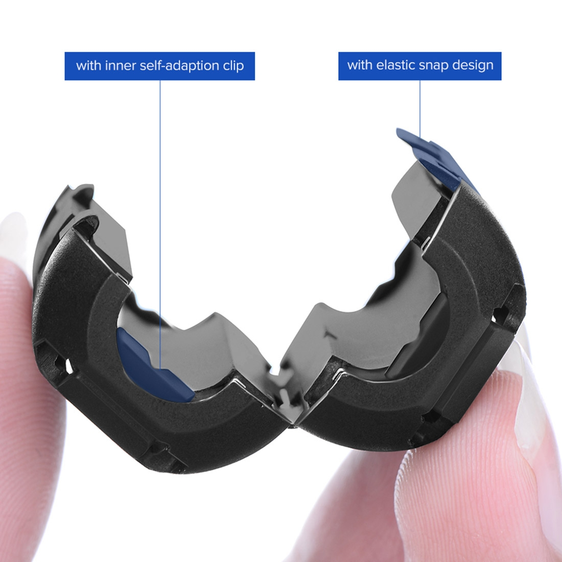 UGREEN Detachable Snap Type Filter Anti-interference Magnetic Ring for Round Audio Video Cable, Diameter: 7.3mm