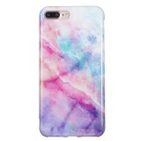 TPU Protective Case For iPhone 8 Plus & 7 Plus (Pink Green Marble)
