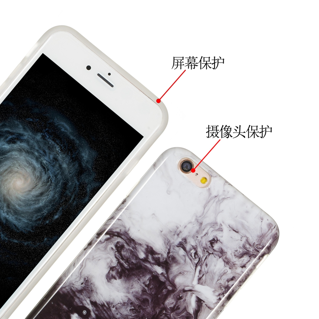 TPU Protective Case For iPhone 6 Plus & 6s Plus (Ink Painting)